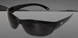 Edge Eyewear Savoia Safety Glasses - Black Frames/Non-Polarized Smoke Lens