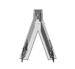4.42 in x .980 in Armstrong Suprafine XM 9/16 in Exposed Tee System for Shapes 75 Degree Double Angle Bracket - 75AB75D