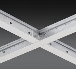4 ft x 1 1/2 in Chicago Metallic 1200 15/16 in Cross Tee / White - 1214.01Z