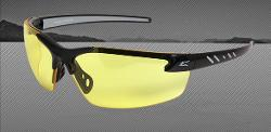 Edge Eyewear Zorge Safety Glasses - Black Frame/Yellow Lens