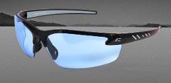 Edge Eyewear Zorge Safety Glasses - Black Frame/Non-Polarized Light Blue Lens
