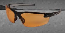 Edge Eyewear Zorge Safety Glasses - Black Frame/Amber Lens