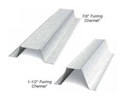 7/8 in x 12 ft x 20 Gauge Furring Channel/Hat Channel