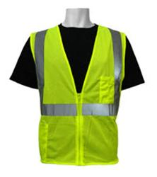 Global Glove FrogWear ANSI Class 2 Polyester Mesh High Visibility Safety Vest - 3 XL