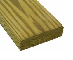 2 in x 4 in x 16 ft Green Treated Lumber