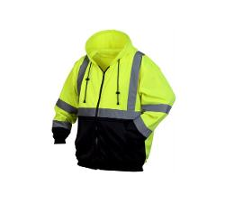 Pyramex Type R Class 3 Sweatshirt / Hi-Vis Lime - 2 XL