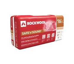 2 in x 24 in x 48 in ROCKWOOL SAFE'n'SOUND Stone Wool Insulation