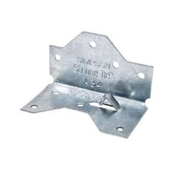 1 7/16 in x 2 1/2 in x 18 Gauge Simpson Strong-Tie A34 Framing Angle