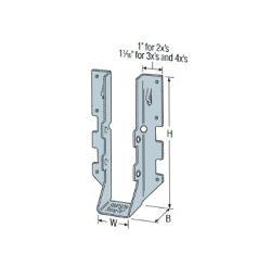 1 3/4 in x 1 9/16 in x 4 3/4 in x 10 in x 18 Gauge Simpson Strong-Tie LUS Face-Mount Joist Hanger