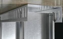 2 1/2 in x 10 ft x 25 Gauge 18 mil Steel Slotted Track w/ 2 1/2 in Leg