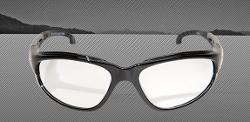 Edge Eyewear Dakura Safety Glasses - Black Frame/Vapor Shield Clear Lens