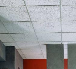 "3/4 in x 2 ft x 2 ft USG ""F"" Fissured Basic Acoustical Fineline Panel / White - 133"