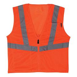LIFT Safety Viz Pro 1 Orange Safety Vest - Large