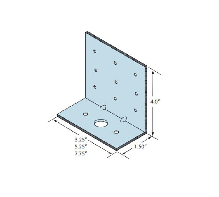 1 1/2 in x 4 x 5 1/4 in x 12 Gauge 97 mil Marino\Ware Rigid Clip Connector
