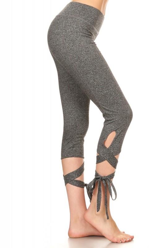 511d923a91b 2-Pack Woman s Cross Tie Cuff Slim Yoga Pants Capri Activewear Legging -  BelleChic