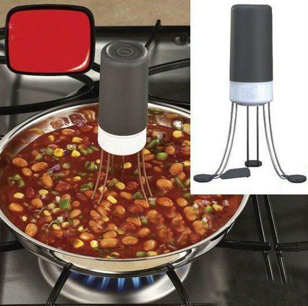 Stir Crazy Triangle Quick Sauce Stirrer Electric Blender Automatic Mix