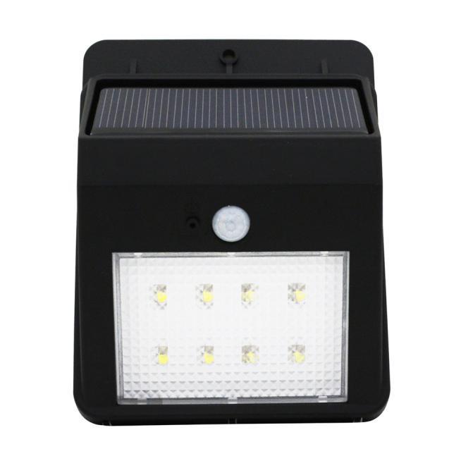 8LED Solar Power PIR Motion Sensor Wall Light Outdoor Waterproof Lamp