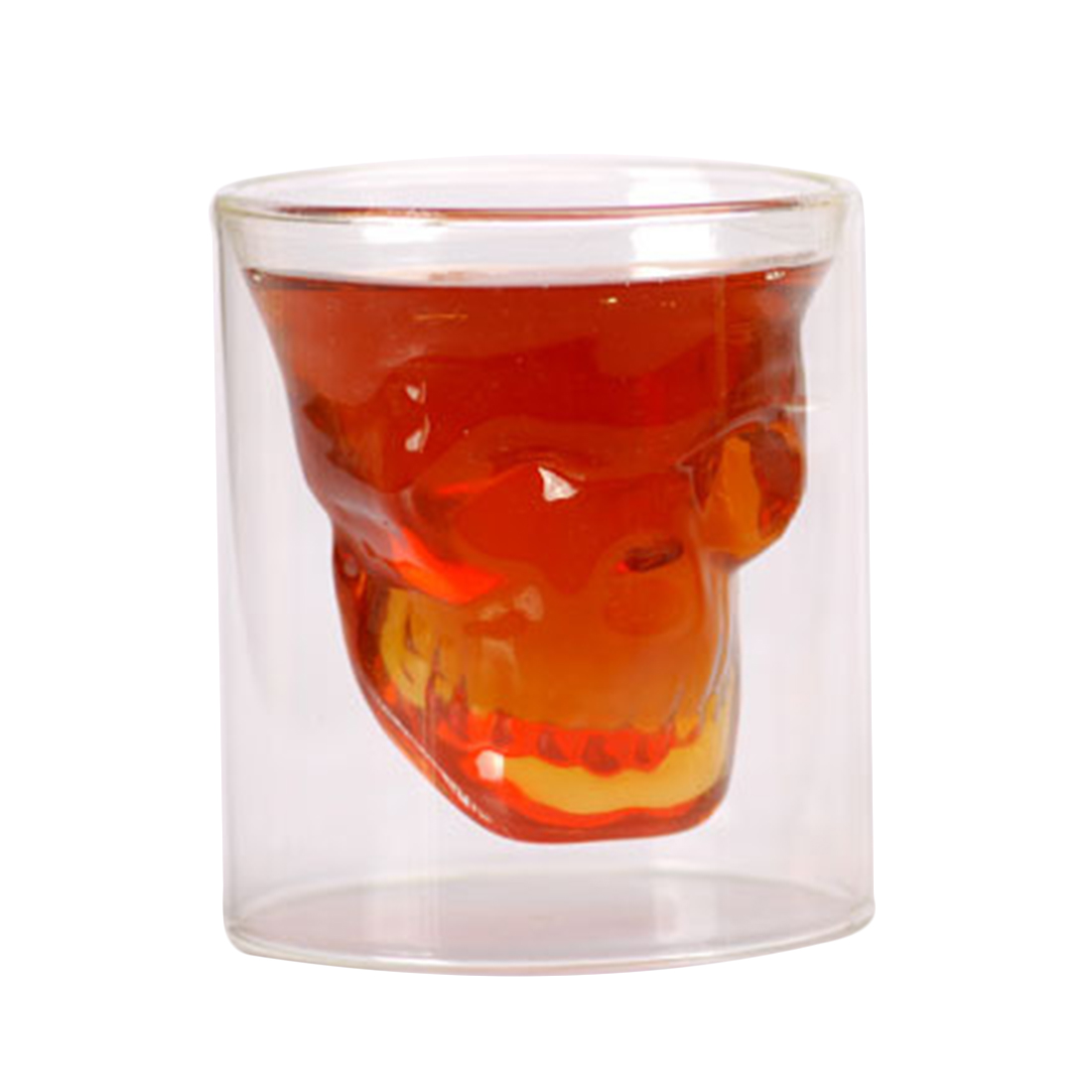 Crystal Double Layer Skull Glass 7664984