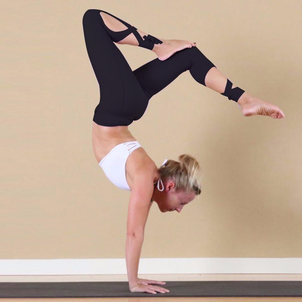 Yoga Tight Leggings Cross-line Quick Dry Elastic Sportswear 6337520
