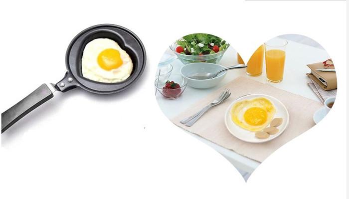 Nonstick Stainless Steel Frying Pan Eco Fry Pan Skillet Heart