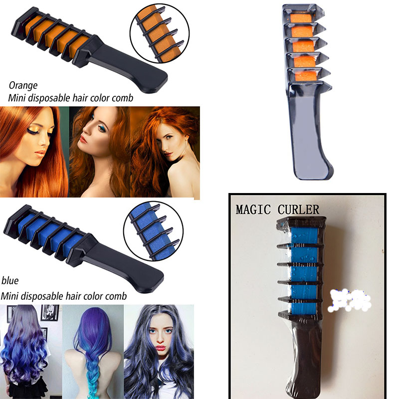 Hair Chalk Comb Temporary Hair Color Washable Hair Dye Highlight ...