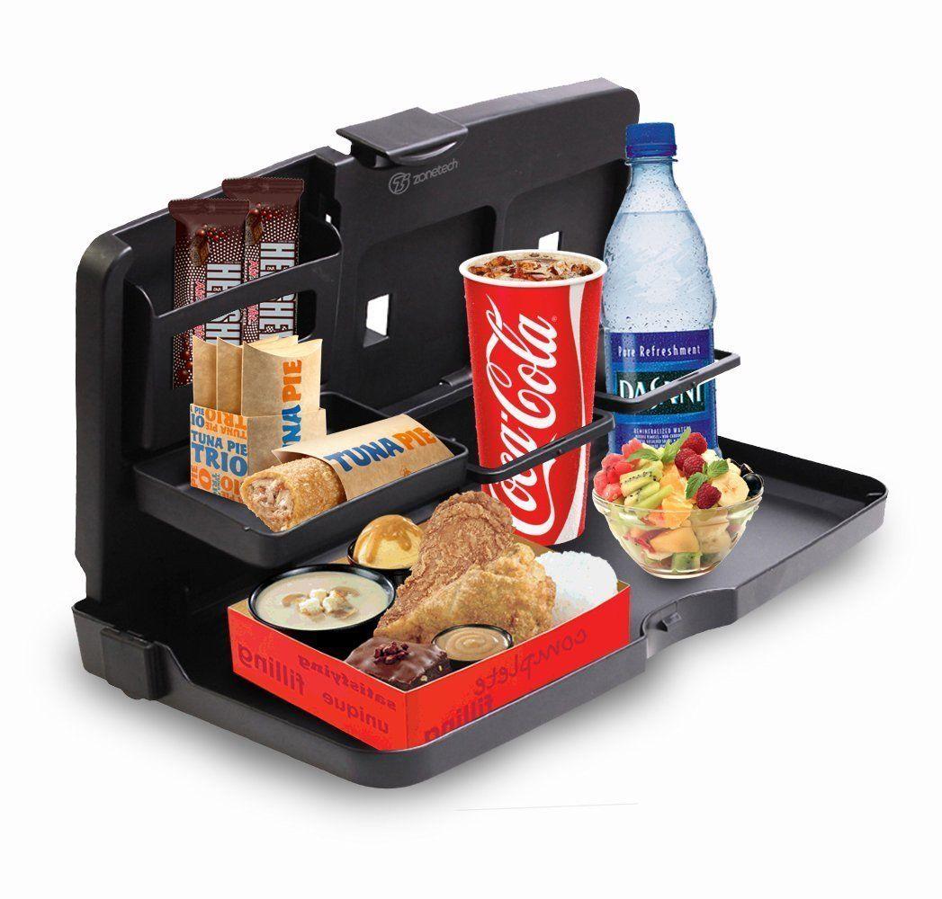 Zone Tech Back Seat Travel Food Drink Portable Desk Tray Holder Organi