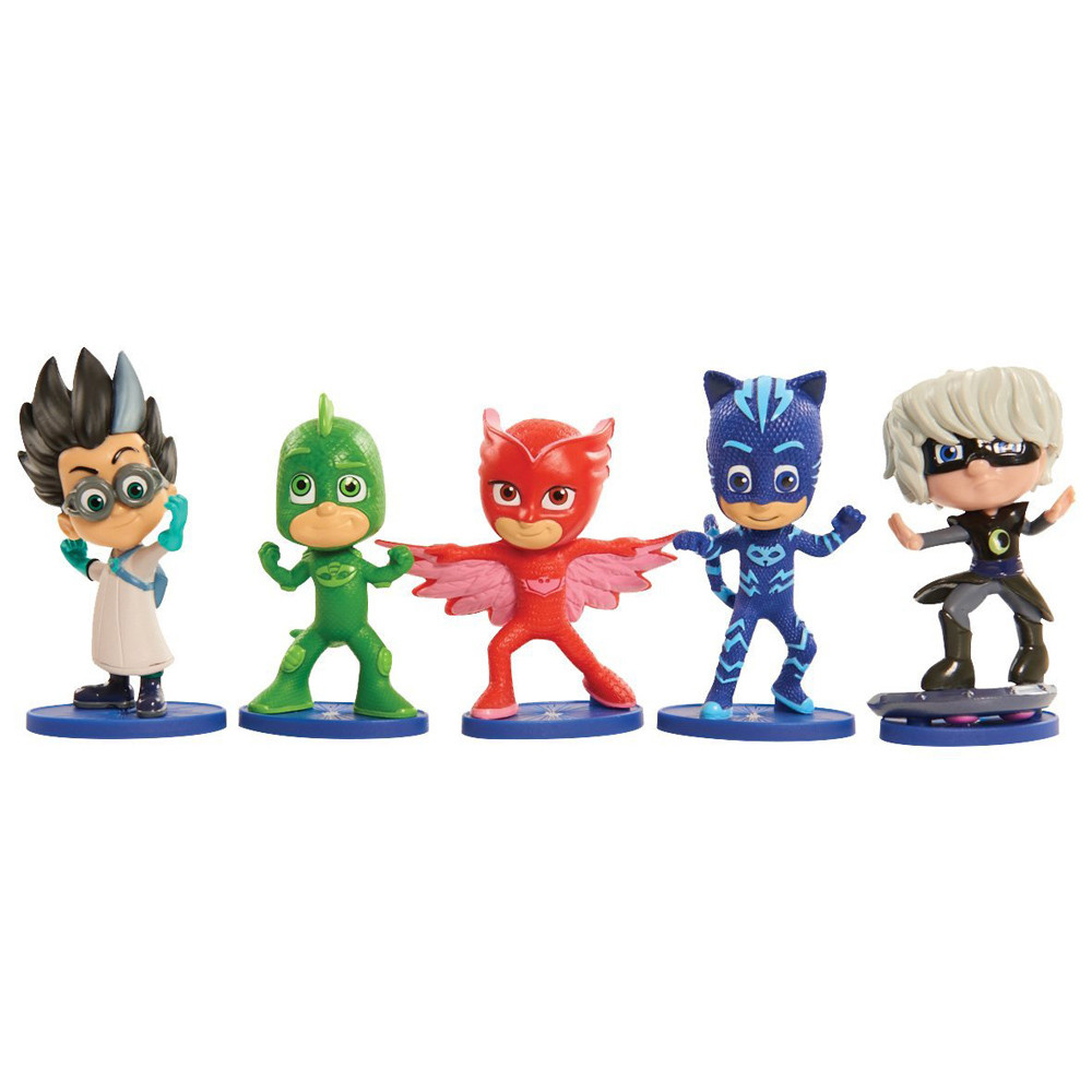 5 Pack Just Play PJ Masks Collectible Figure Set