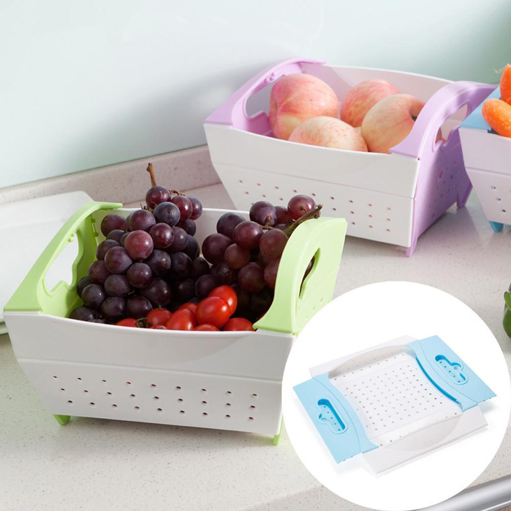 Portable Kitchen Drain Basket Bath Storage Tools Sink Holder Storage R