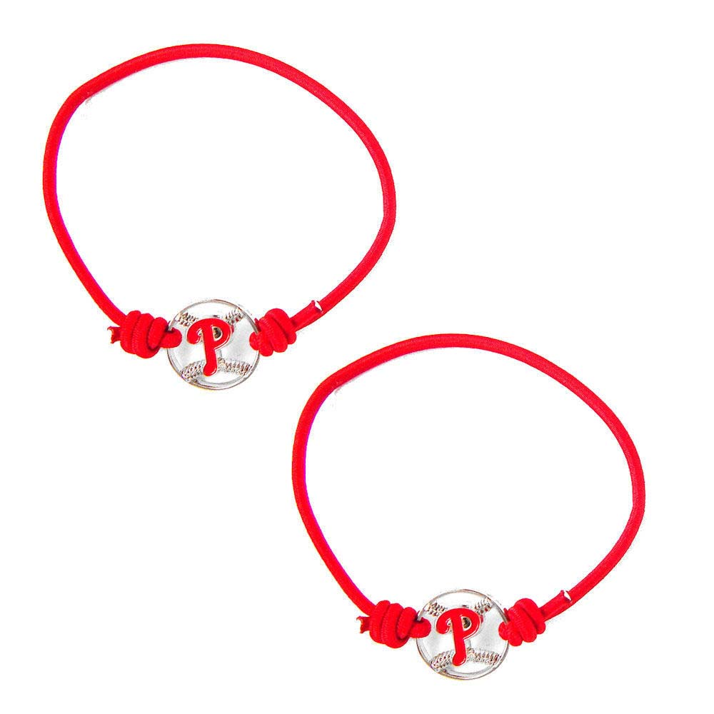 Philadelphia Phillies Stretch Bracelets Set of (2)  Hair Ties - MLB 73398369c71d