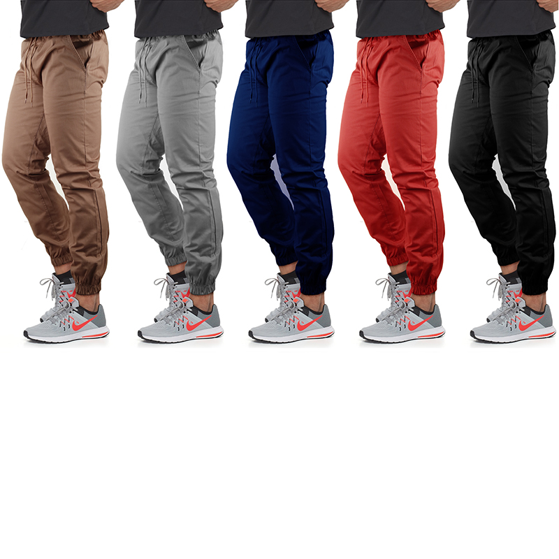 Men s Slim-Fit 100% Cotton Twill Joggers