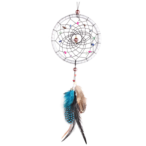 Stone Feather Dream Catcher Wall Hanging Ornament