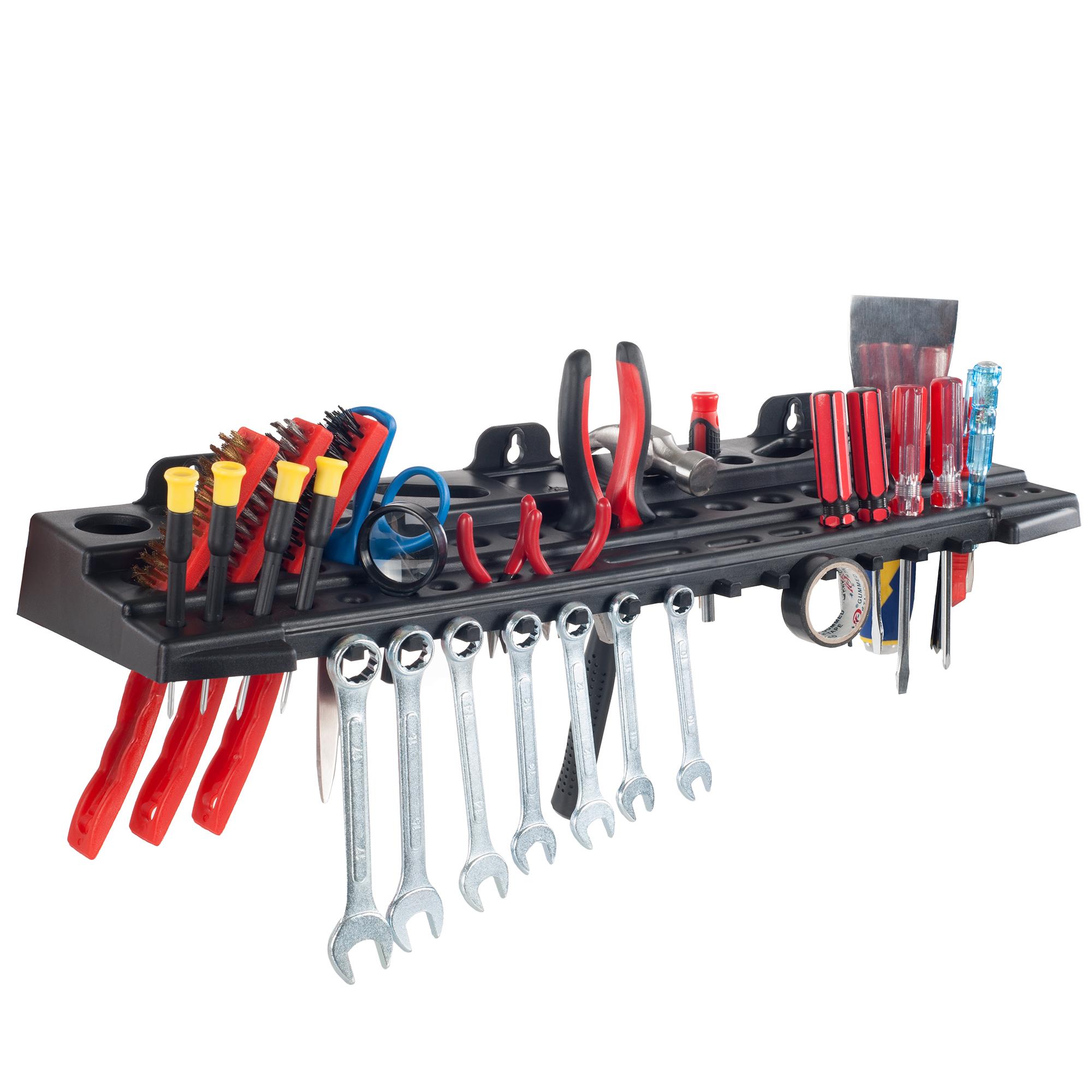 Stalwart 22 Inch Wall Mount Tool Organizer Shelf - Holds Over 60 Tools c1e68f9dcdb3