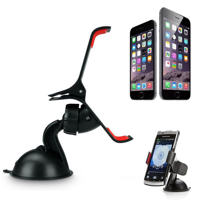 Car Windshield Mount Stand Holder For iPhone 6 6 Plus Samsung GPS