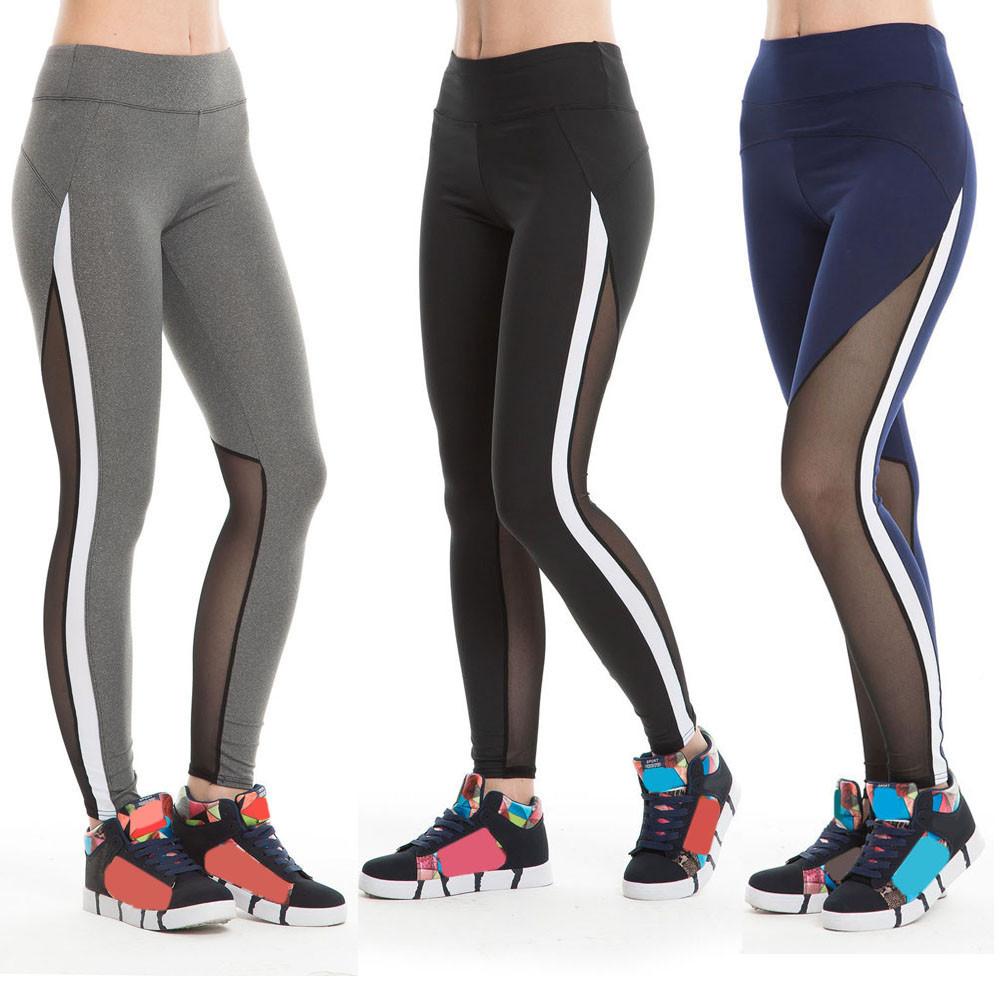 Women s Athletic Slim Mesh Leggings
