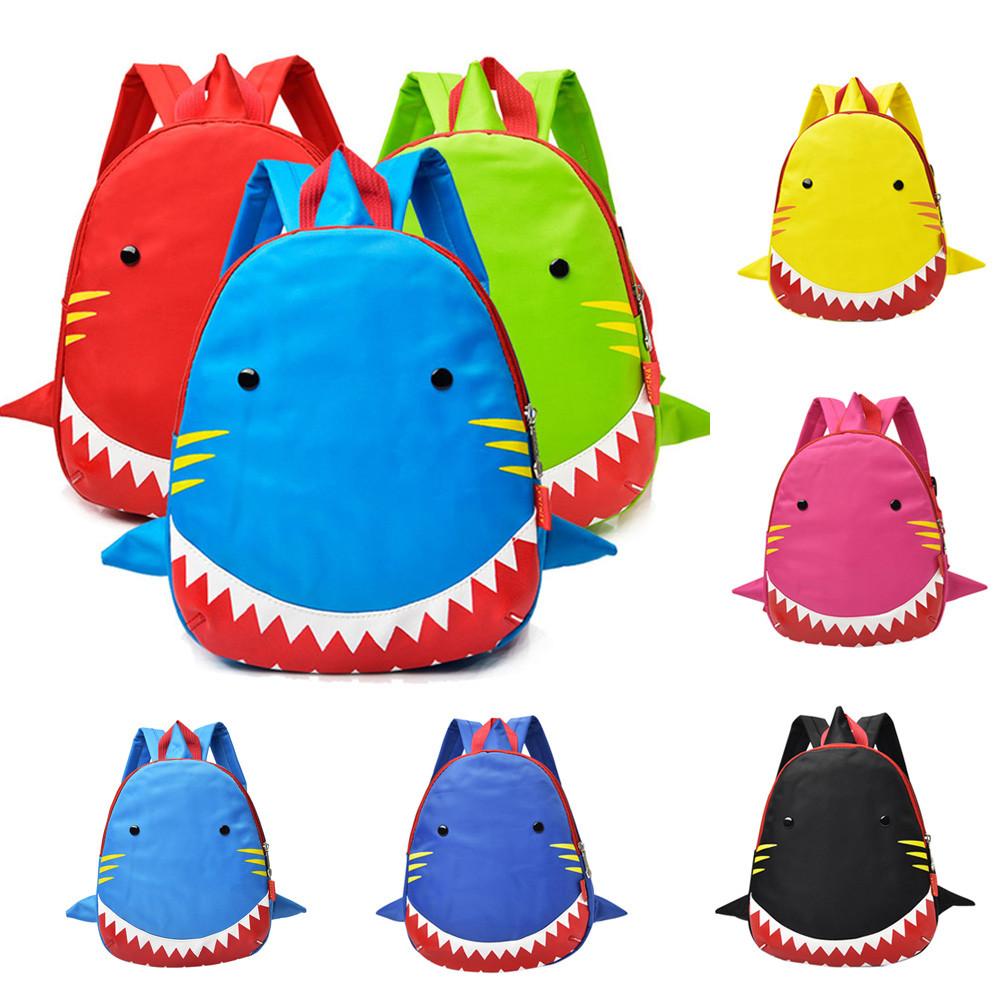 Baby Boys Girls Kids Shark Pattern Animals Backpack Toddler School Bag