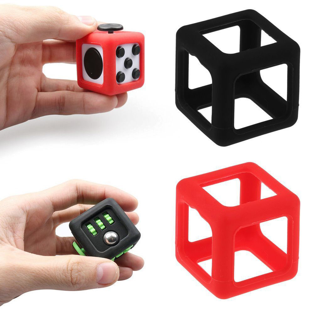 Fidget Cube Stress Relief Toy Protective Cover Case 7858700