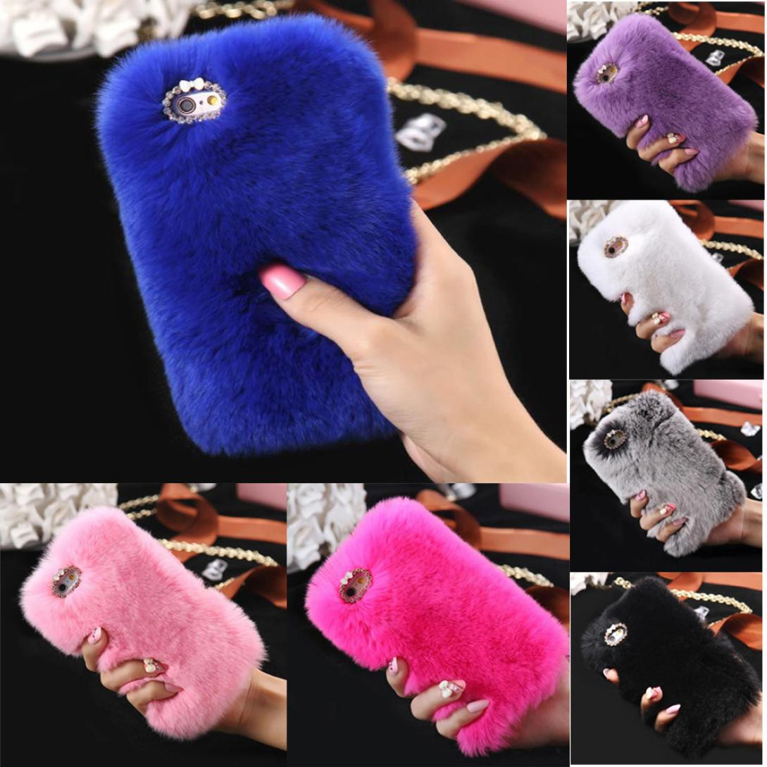 Warm Fluffy Villi Fur Case Cover Skin For iPhone 8 4.7inch  iPhone 8 P