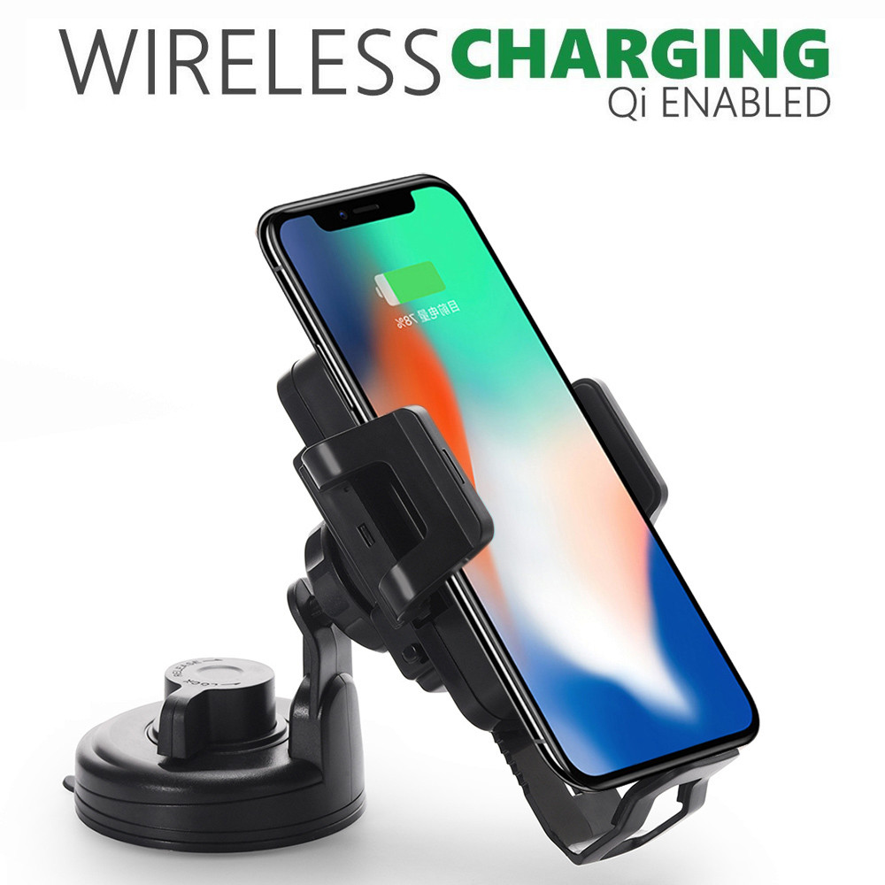 Vehicle Wireless Charging Phone Mount For iPhone 8 8Plus X