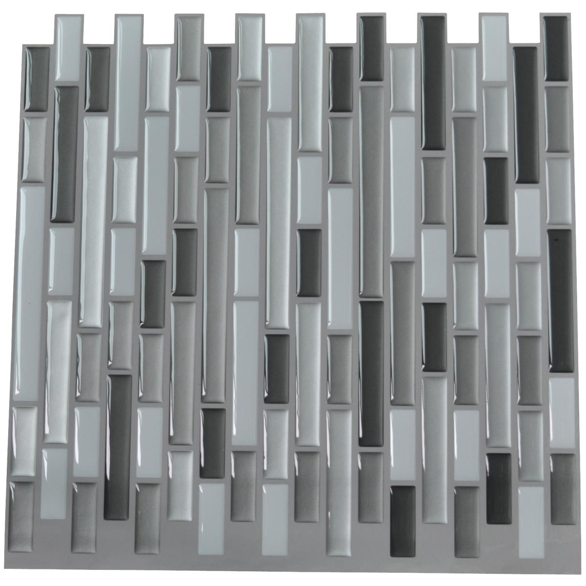 Art3d Peel And Stick Tile Vinyl Backsplash Grey White 6
