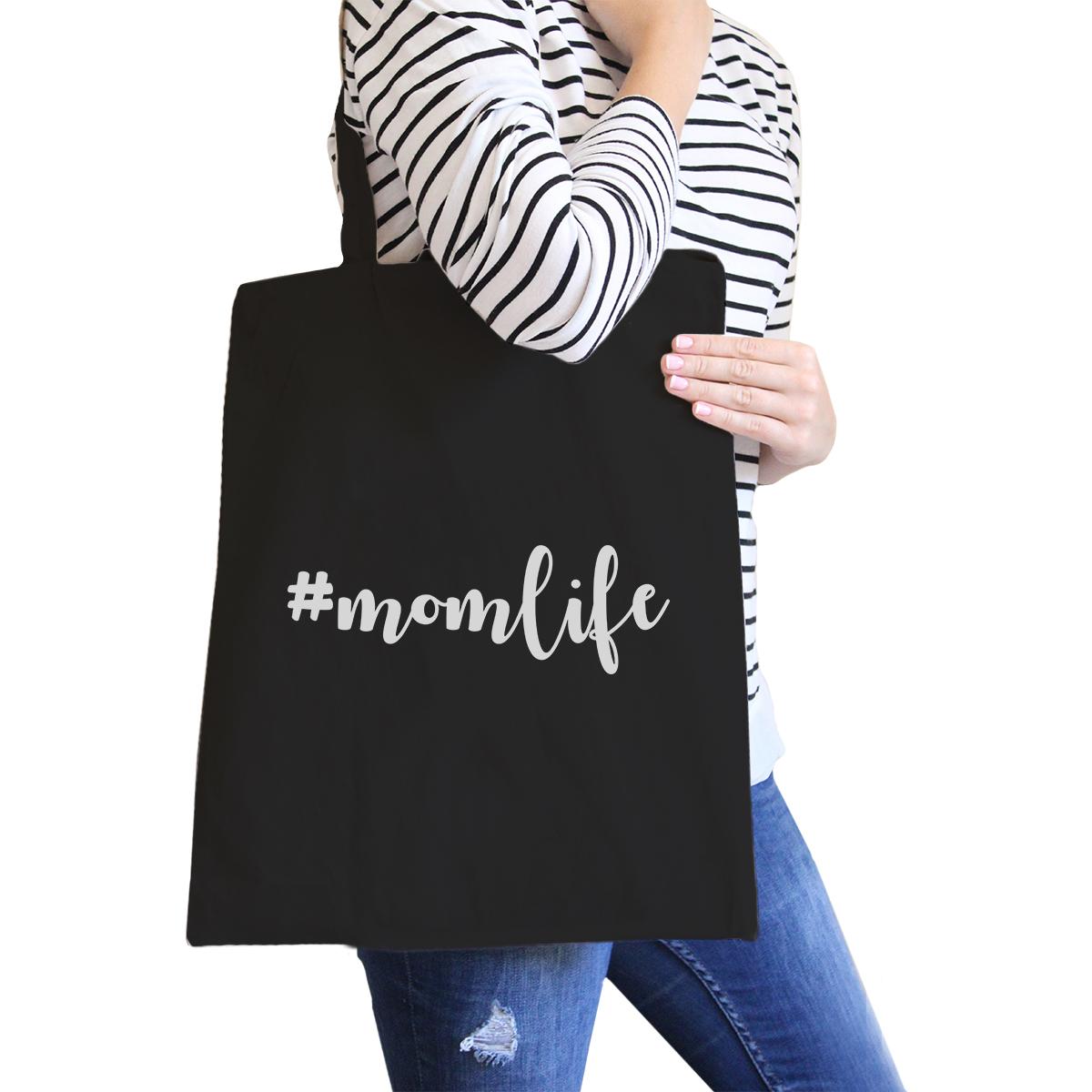 Momlife Black Canvas Bag
