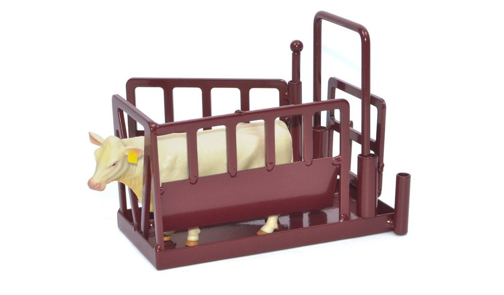Toy Cattle Chute : Little buster toy heavy duty metal cattle chute red