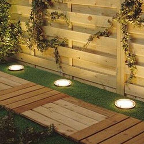 Outdoor Solar Power 3 LED Landscape Floor Lamp Garden Waterproof Light