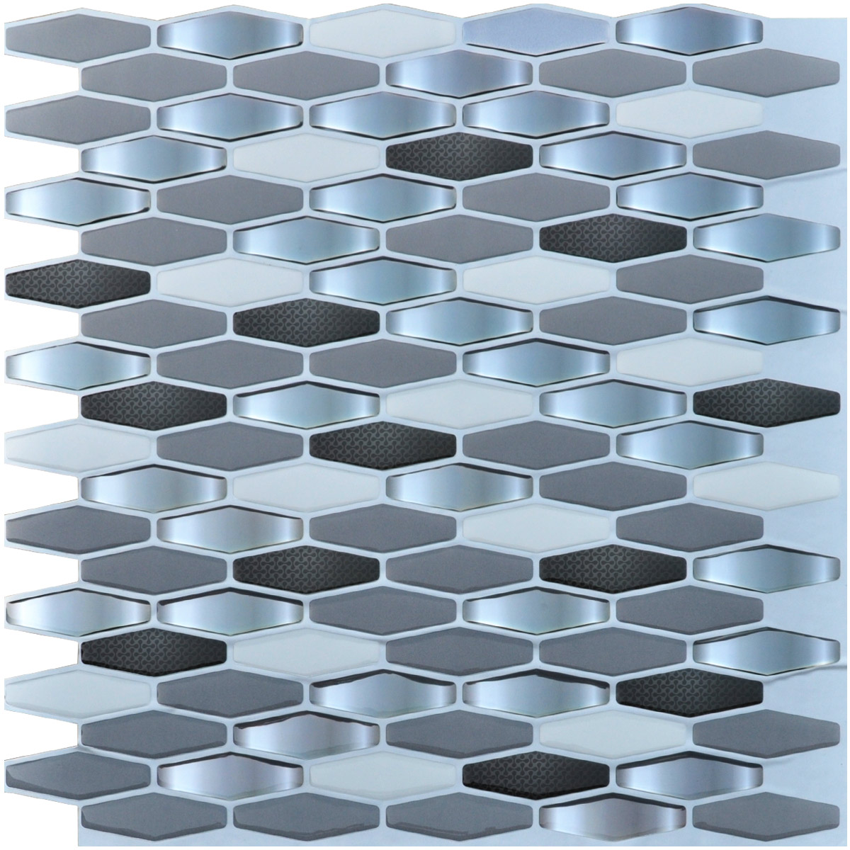 Up To 45 Off Peel Stick Kitchen Backsplash Tile At Walmart: Art3d Self Adhesive Backsplash Tiles, Diamond Pack Of 6