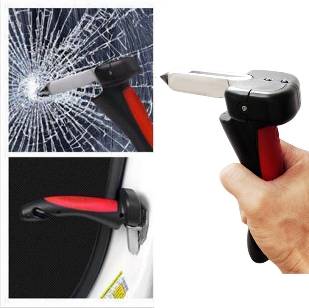 Portable Handle Car Cane Aid Auto Flashlight Glass Breaker Seatbelt Cu