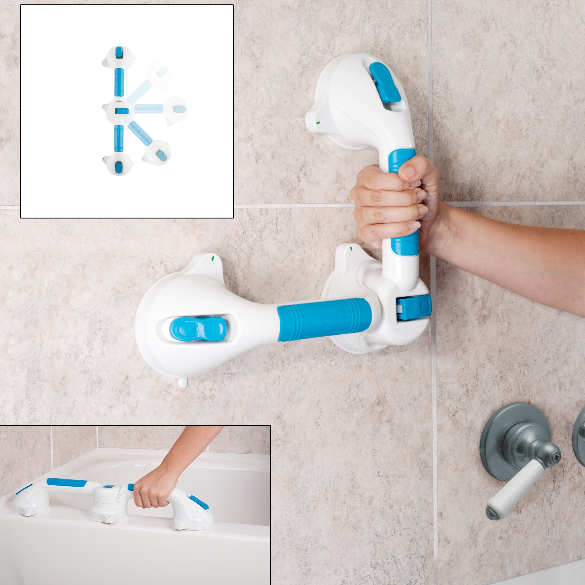 Bluestone Dual Grip Suction Grab Bar 5472895