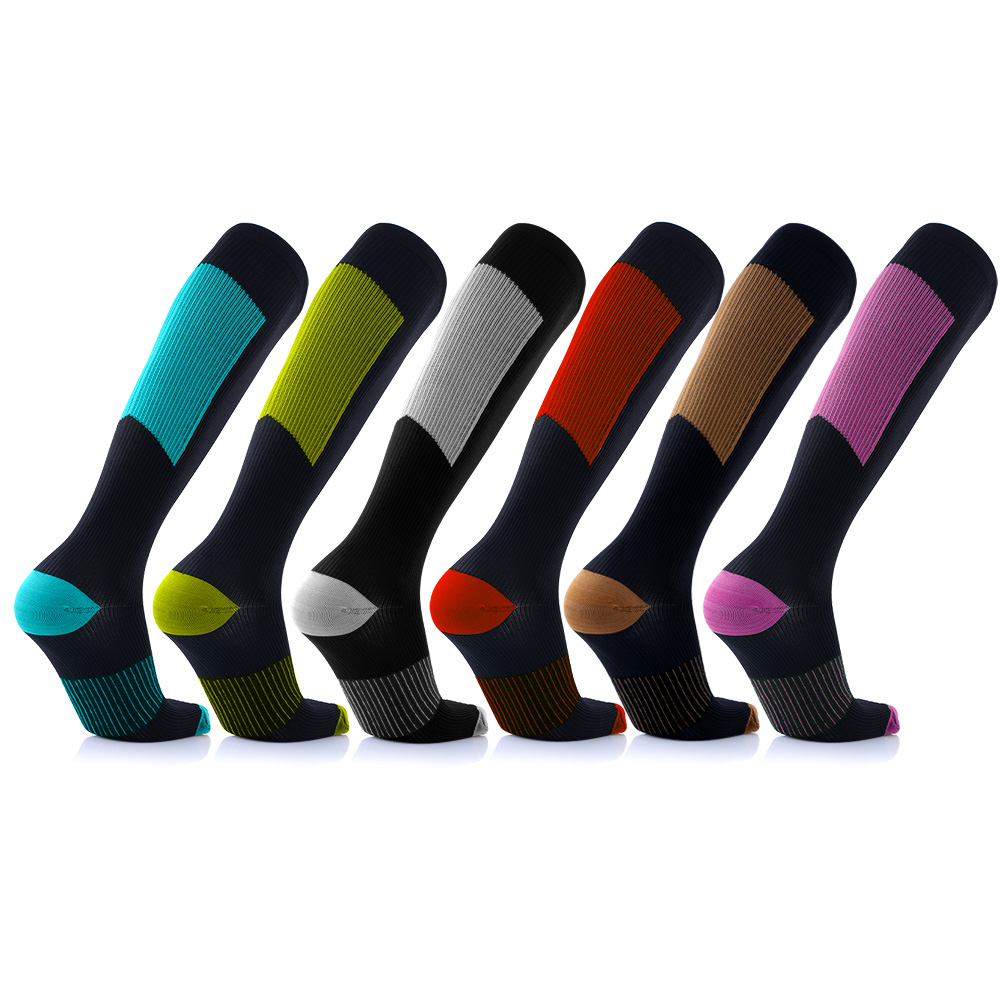 6-Pairs Unisex Copper-Infused Compression Socks