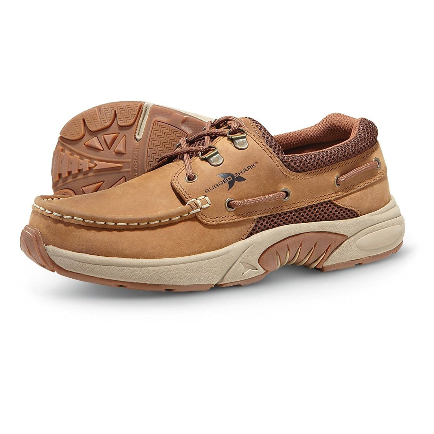 Rugged Shark Men S Atlantic Oxford Boat Shoes