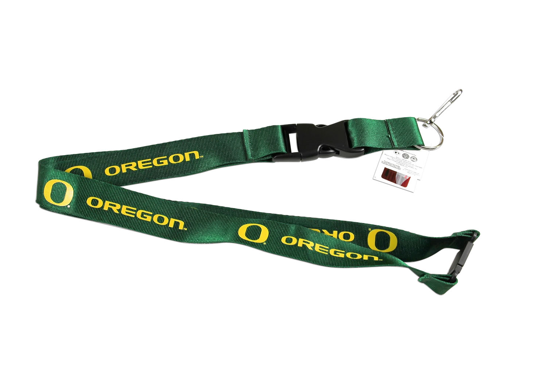 Oregon Ducks  O  Clip Lanyard Keychain Id Ticket - Green 6569650