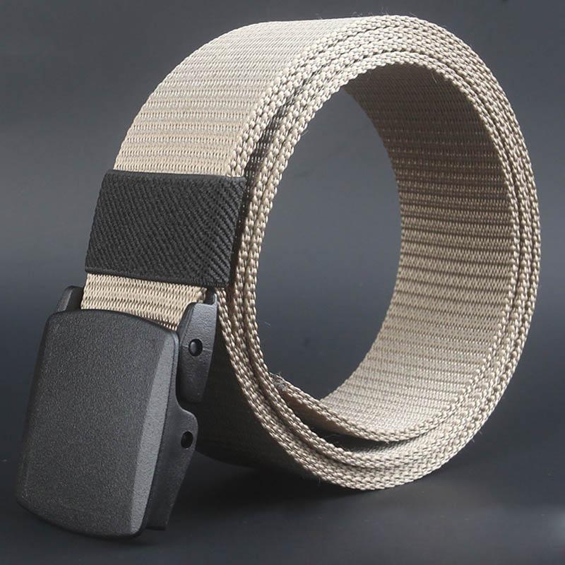 Men s Canvas Belt with Plastic Automatic Buckle - 5 Colors