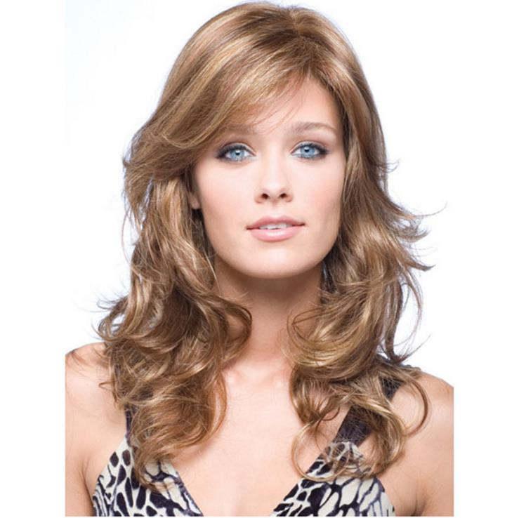 styles for layered hair mupoo 50cm wavy layered flaxen amp brown heat middle 7140